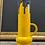 Thumbnail: Yellow & Black 60s Fat Lava Roth Keramik Mid Century Vase