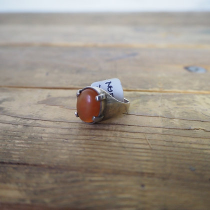 Silver + Red Carnelian ring