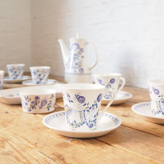 Norwegian Art Pottery Figgjo Turi Design Lotte Set of 6 Cups