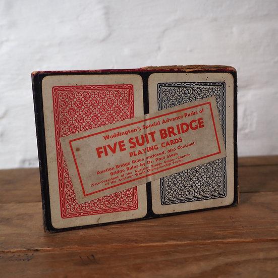 Rare 5 Suit Double Deck Bridge Set c. 1937-39