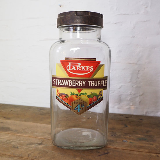 Vintage Parkes Strawberry Truffle Jar