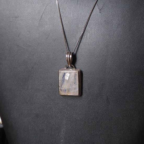 Silver Moonstone Pendant Necklace