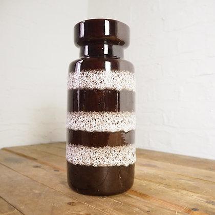 West German Pottery Brown Fat Lava Ceramic Vase