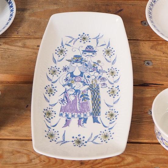 Norwegian Art Pottery Figgjo Turi Design Lotte Sandwich Plate Platter