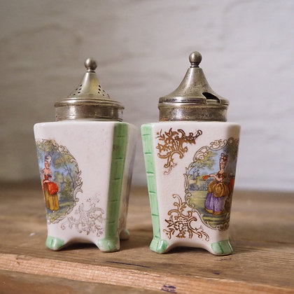 1930s Salt & Mustard Condiment Pots