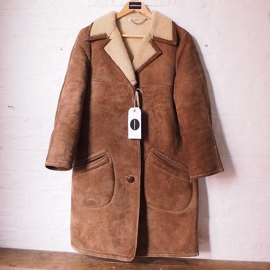 Size 10-12 Vintage 1960's Sheepskin Jacket