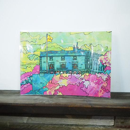 Neon Nottingham Castle A4 Print
