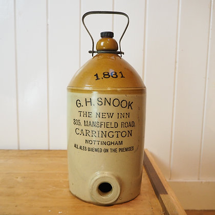 G H Snook Nottingham Beer Take Out Flagon Growler
