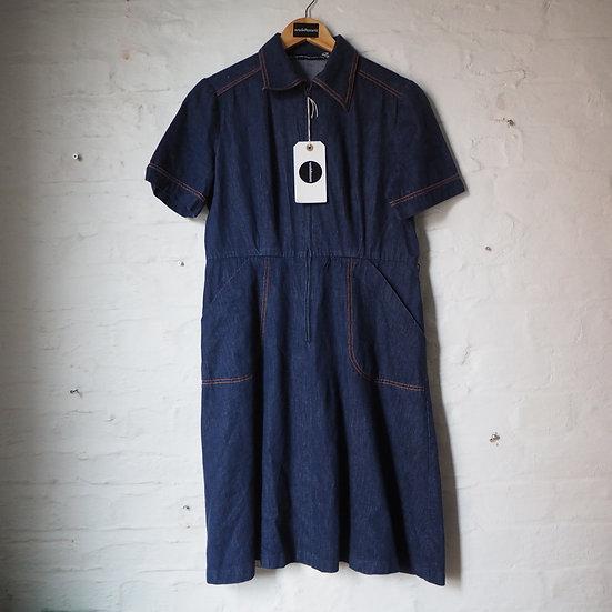 1970's Denim Midi Dress Size 14
