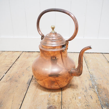 19th Century Fine Large Copper Kettle