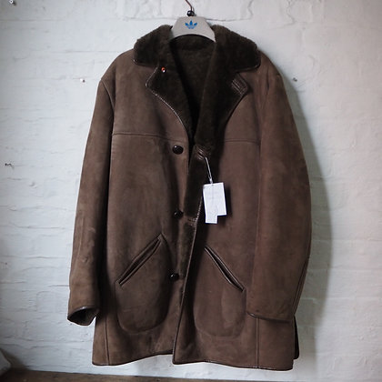 Mens 1960s 'Nursey's' Sheepskin / Suede Jacket in brown
