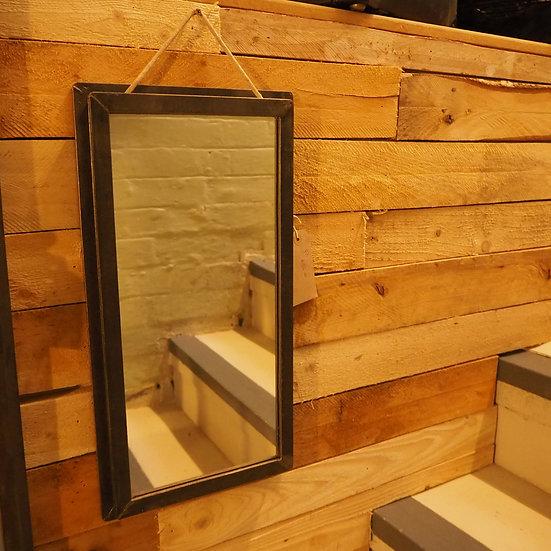 Upcycled Industrial Vintage Single Pane Window Mirror