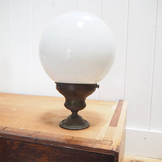 Globe Light on Brass / Bronze Mount