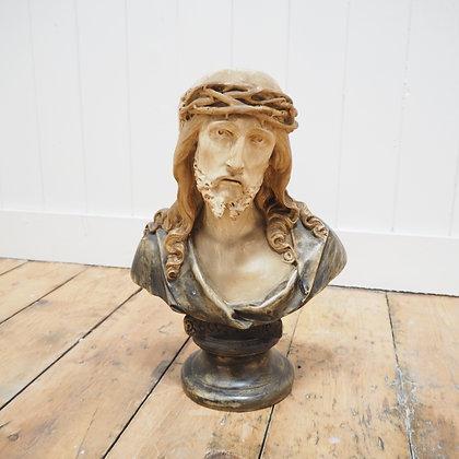 Decorative Pottery Bust of Jesus Christ