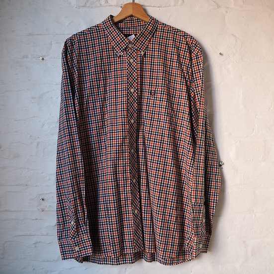 Fred Perry Long Sleve Checked Shirt, Size XL