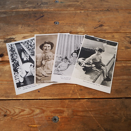 x4 Vintage Photos of the Royal Family Postcards