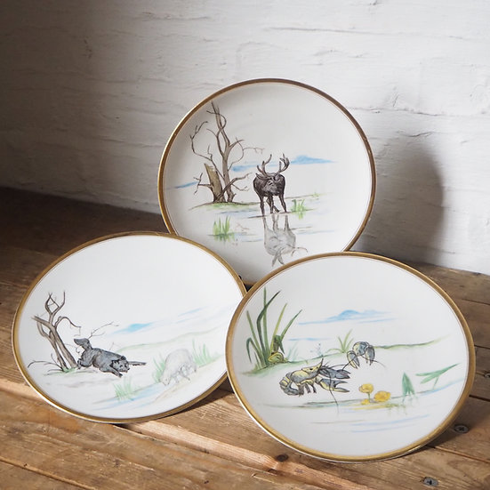Aesop's Fables Set of 8 Plates