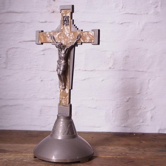 Modern Metal and Plastic Crucifix