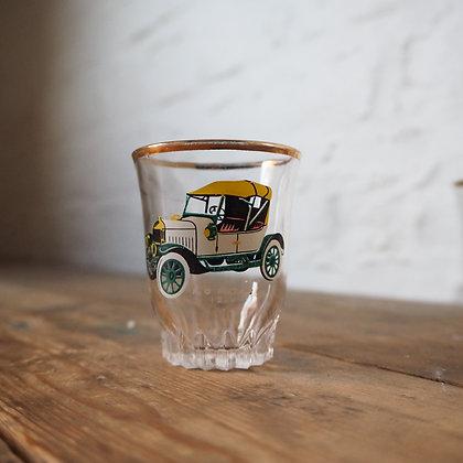 Set of 6 Circa 60s Vintage Car Shot Glasses