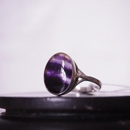 Blue John Sterling Silver Ring. Stamped: ASD