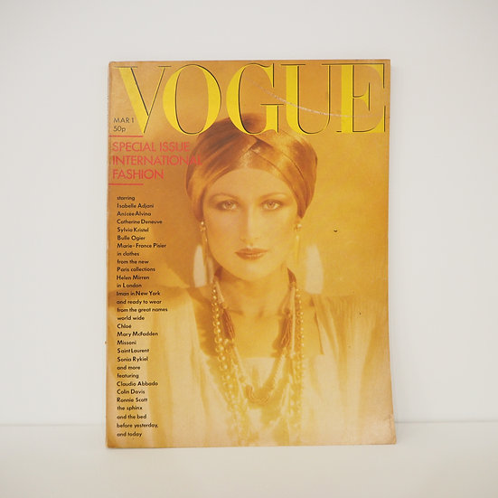 Vintage Vogue Magazine March 1976