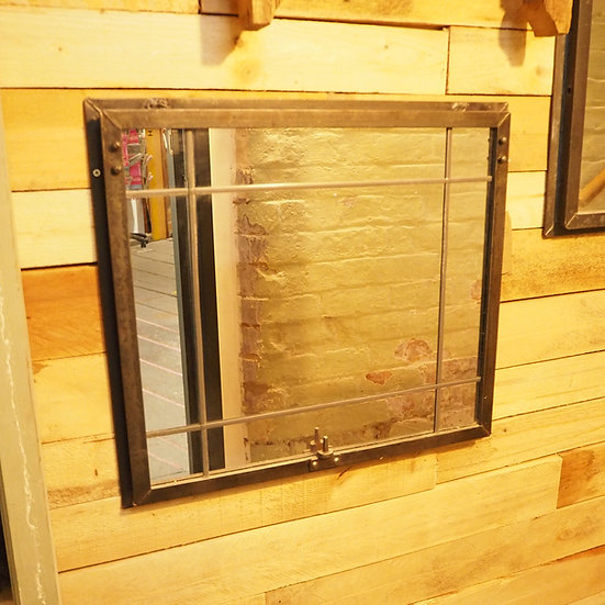 Upcycled Vintage Metal Industrial Window Mirror