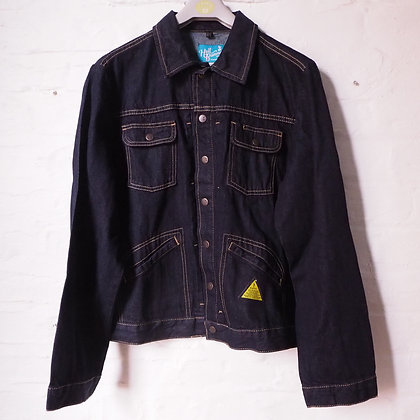Hell Bunny Dark Blue Indiana Denim Jacket size 2XL