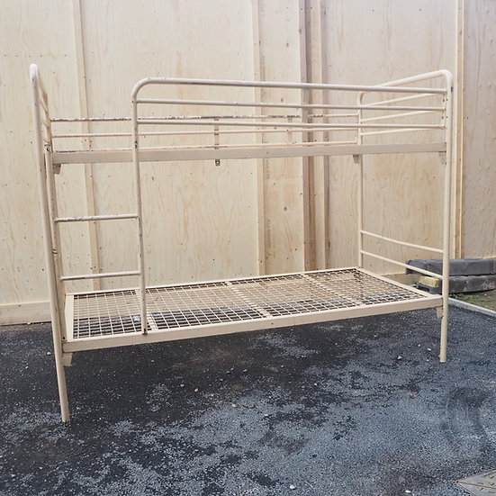 Vintage Industrial Metal Possibly Ex Military Bunk Beds (Job lot Available)