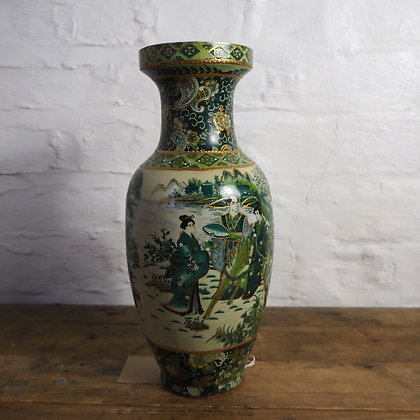 Beautiful Large Chinese Vase, in rare Green & Blue colour