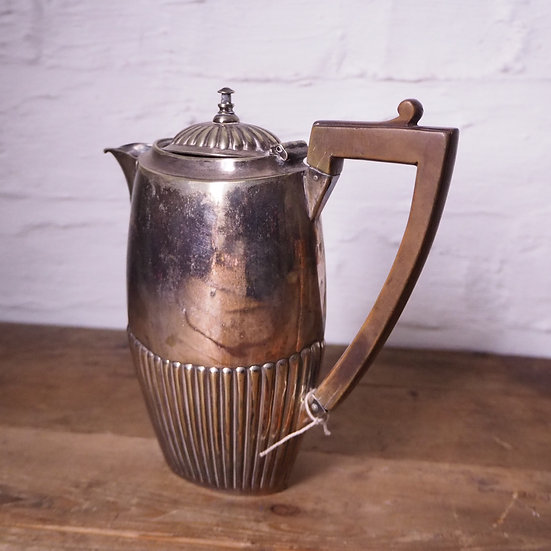 Silver plated EPNS Coffee Pot with Fruit Wood Handle.