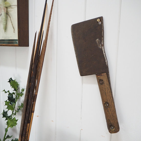 Antique Rusty Cleaver Knife
