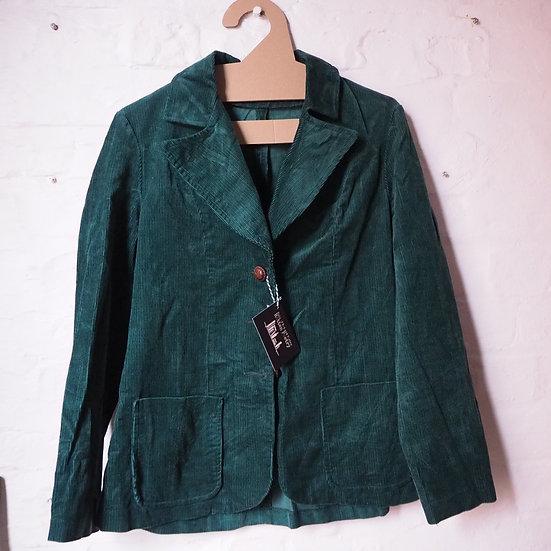 "100% Cotton, Vintage Womens Keynote Green Cord Blazer. Bust 40""."