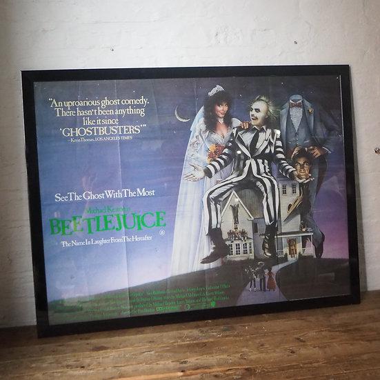 Beetlejuice Classic Tim Burton 80s Movie Film Poster Framed