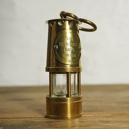 Miniature Heavy Brass Davy Lamp Lantern