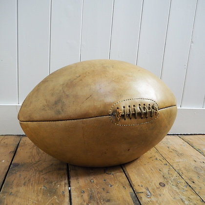 1930's Store Display Giant Leather Rugby Ball