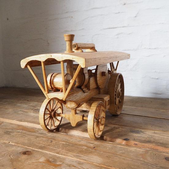 Vintage Steam Traction Engine Model Matchstick Folk Art