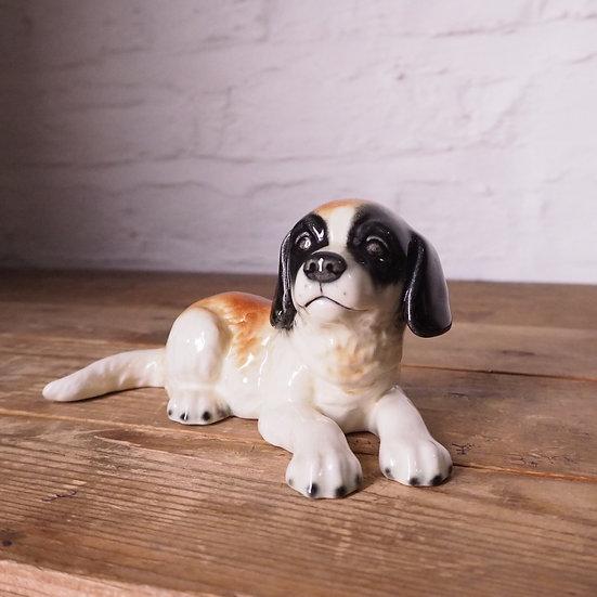 German Groebel 'Contented Dog' Figurine Ceramic Sculpture