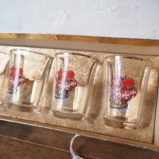 Set of 6 Boxed Sailing Ship Shot Glasses