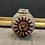 Thumbnail: Mid Century Bernard Rooke Brutalist Studio Round Ammonite Pottery Vase