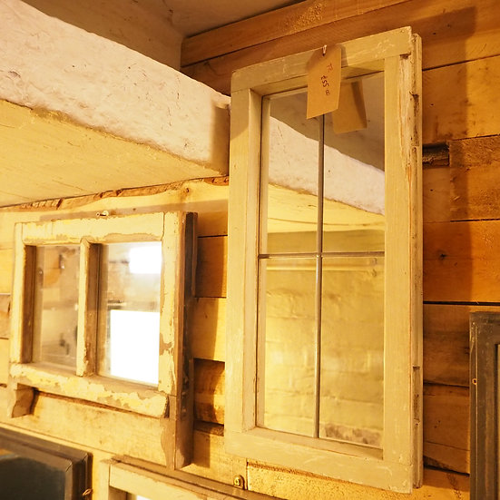 Upcycled White Vintage Wooden Window Mirror