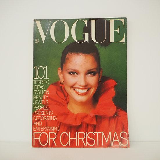 Vintage Vogue Magazine Christmas Issue December 1976