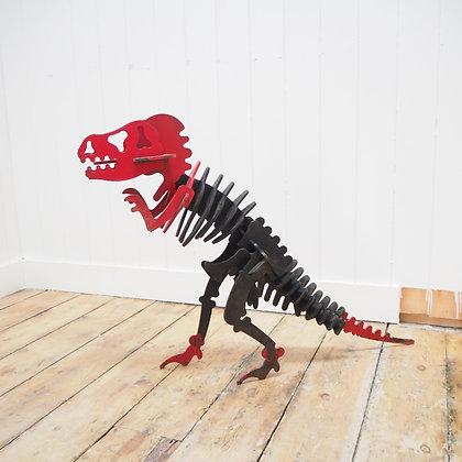 Large Metal T-Rex Skeleton Model