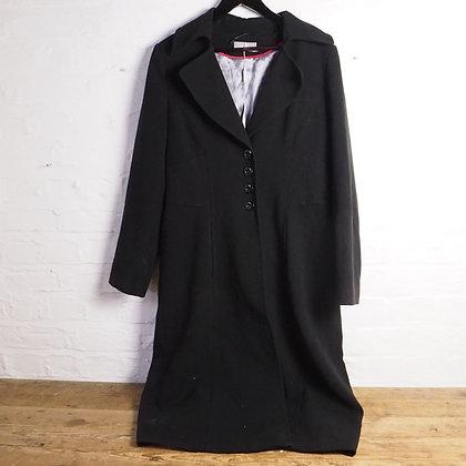 Size 14 Ladies Black Ankle Length Wallis Winter Coat