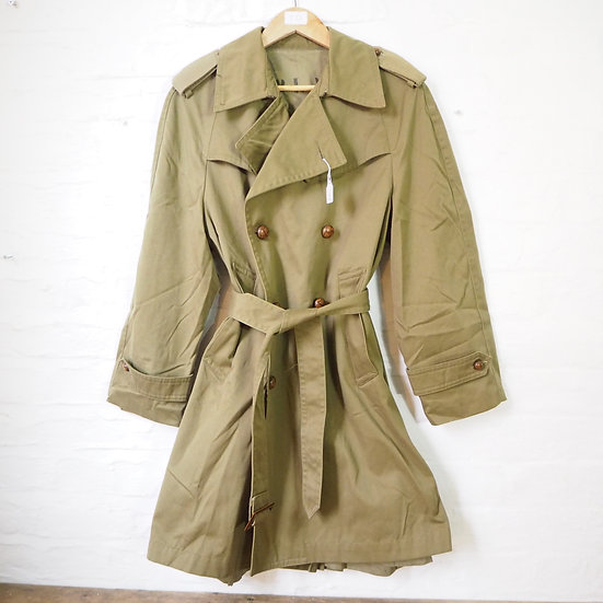 Army Green Trench Overcoat
