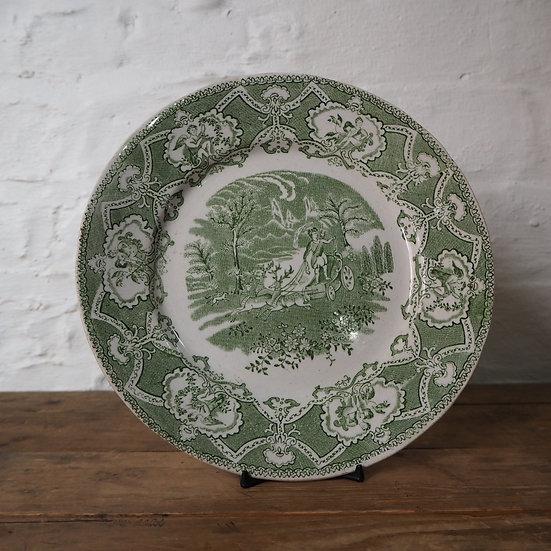 Rare Antique Staffordshire Pocahontas Plate