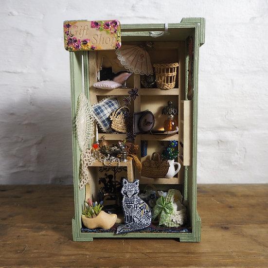 Wooden Gift Ship Diorama