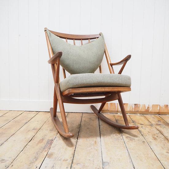 1960's Danish Rocking chair by Bramin of Denmark, designed by Frank Reenskaug