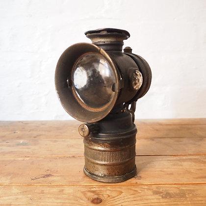 Antique French Vitaphare Carbide Bike Lantern Lamp