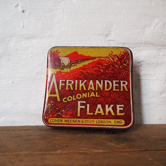 Curved Vintage Afrikander Pocket Tin by Cohen Weenen & Co Ltd.