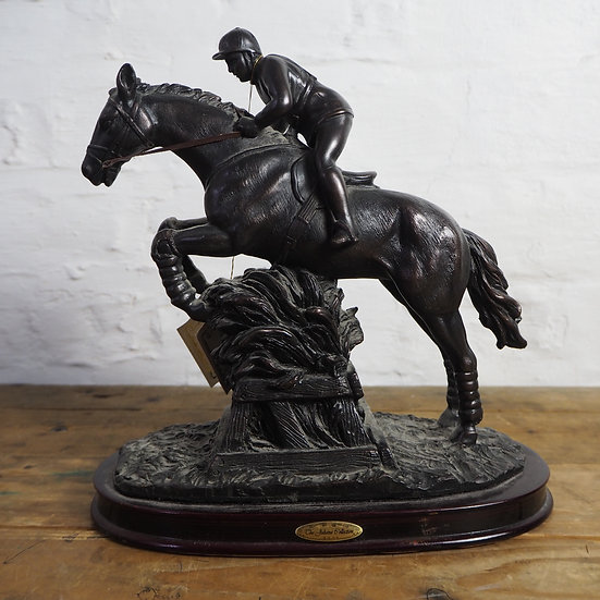 Resin Horse and Rider Limited Edition Statue
